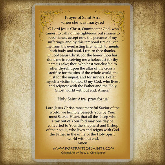St. Afra Holy Card