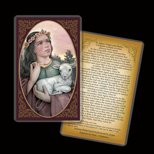St. Agnes of Rome Holy Card