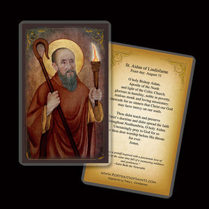 St. Aidan of Lindisfarne Holy Card