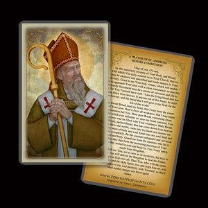St. Ambrose Holy Card