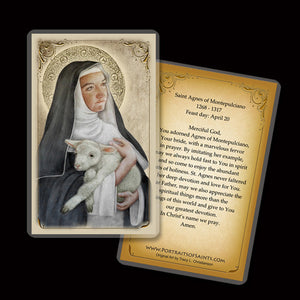 St. Agnes of Montepulciano Holy Card