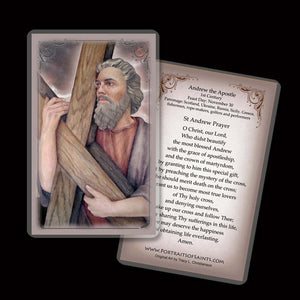 St. Andrew the Apostle Holy Card