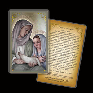 St. Anne and Mary Holy Card