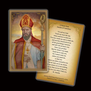St. Anselm of Canterbury Holy Card