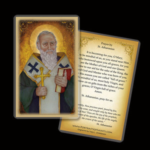 St. Athanasius Holy Card