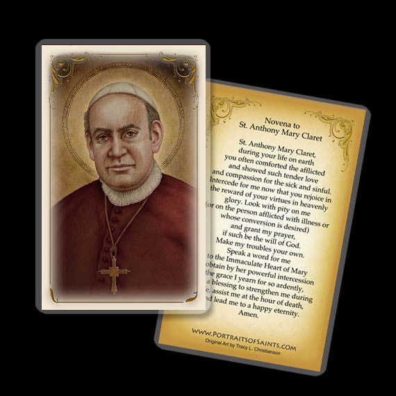 St. Anthony Mary Claret Holy Card