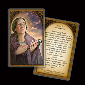 St. Apollonia Holy Card