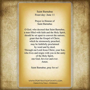 St. Barnabas Holy Card