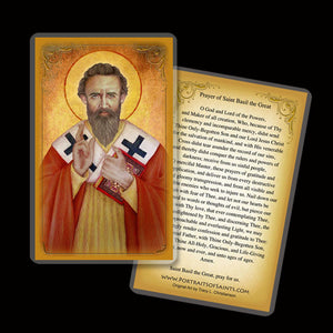 St. Basil the Great Holy Card