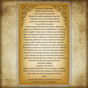 St. Benedict of Nursia Holy Card