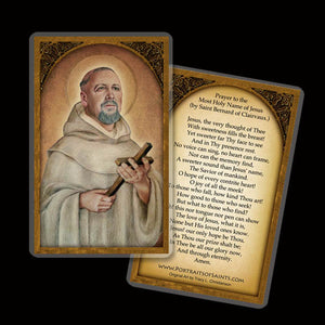 St. Bernard of Clairvaux Holy Card