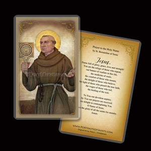 St. Bernardine of Siena Holy Card