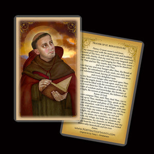 St. Bonaventure Holy Card