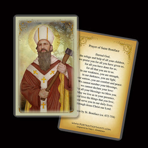 St. Boniface Holy Card
