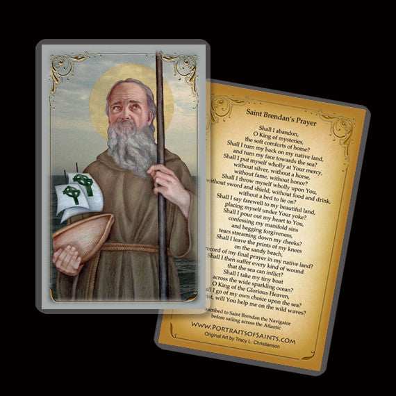 St. Brendan the Navigator Holy Card