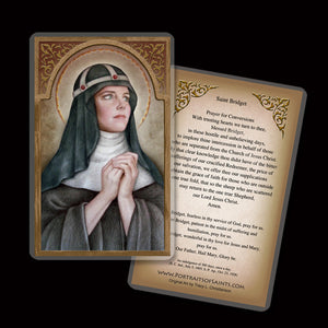 St. Bridget of Sweden Holy Card