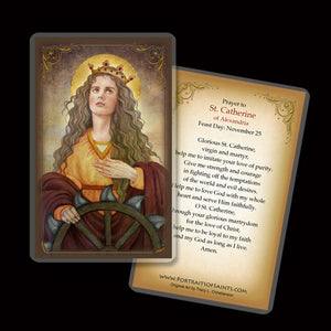 St. Catherine of Alexandria Holy Card