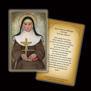 St. Catherine of Bologna Holy Card