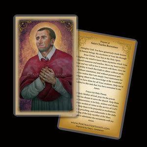 St. Charles Borromeo Holy Card