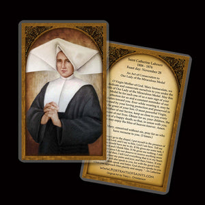 St. Catherine Laboure Holy Card
