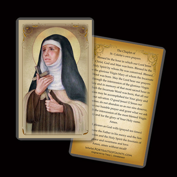 St. Colette Holy Card