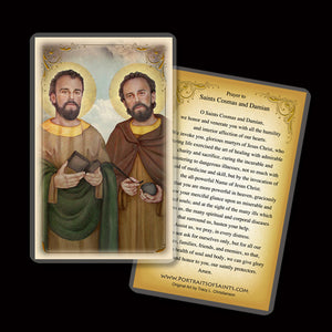 St. Cosmas and St. Damian Holy Card