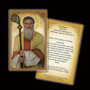 St. Cyprian of Carthage Holy Card