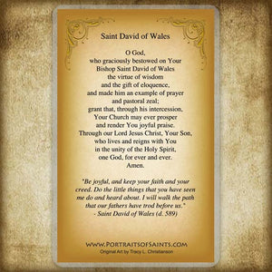 St. David of Wales Holy Card