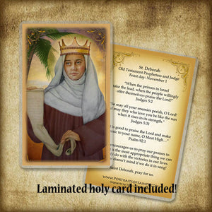 St. Deborah the Prophetess Plaque & Holy Card Gift Set