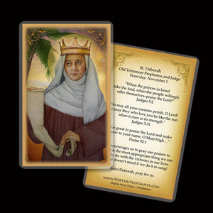 St. Deborah the Prophetess Holy Card