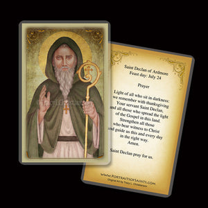 St. Declan of Ardmore Holy Card