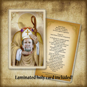 St. Denis Plaque & Holy Card Gift Set