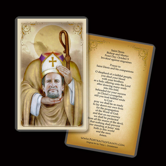 St. Denis Holy Card