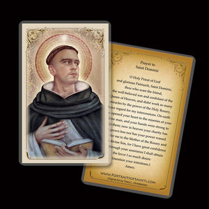 St. Dominic Holy Card