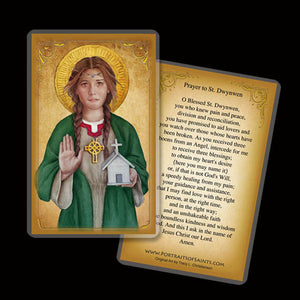 St. Dwynwen Holy Card