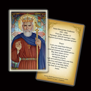 St. Edward the Confessor Holy Card