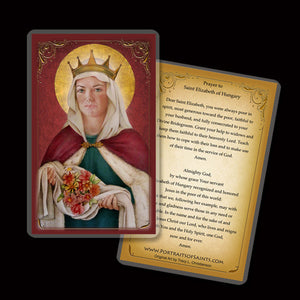 St. Elizabeth of Hungary Holy Card