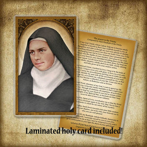St. Elizabeth of the Trinity Plaque & Holy Card Gift Set