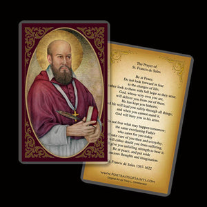 St. Francis de Sales Holy Card