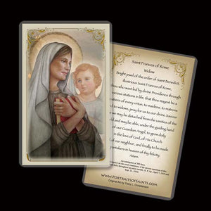 St. Frances of Rome Holy Card
