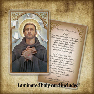 St. Francis of Assisi Plaque & Holy Card Gift Set