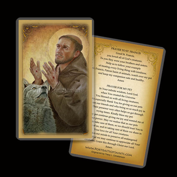 St. Francis of Assisi (B) Holy Card