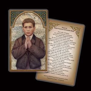 St. Francisco Marto Plaque & Holy Card Gift Set