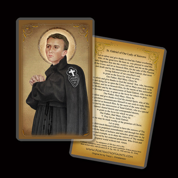 St. Gabriel of Our Lady of Sorrows Holy Card