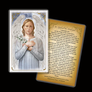 St. Gabriel the Archangel Holy Card