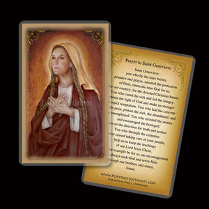 St. Genevieve Holy Card