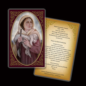St. Germaine Cousin Holy Card