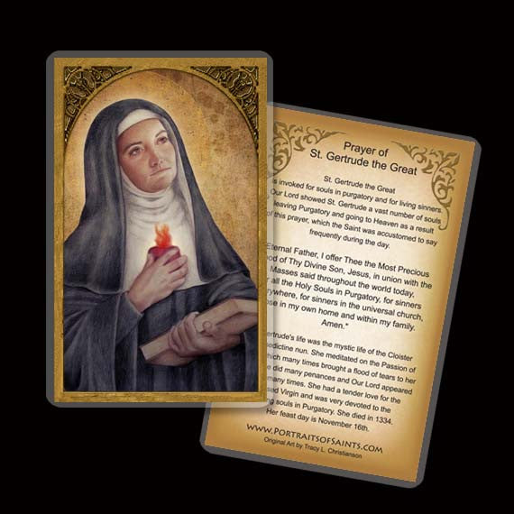 St. Gertrude The Great Holy Card