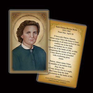 St. Gianna Molla (B) Holy Card
