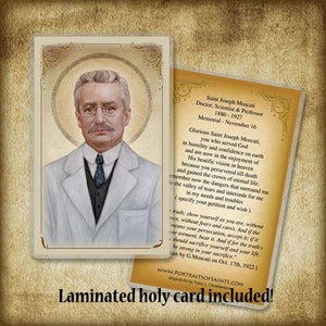St. Giuseppe (Joseph) Moscati Plaque & Holy Card Gift Set
